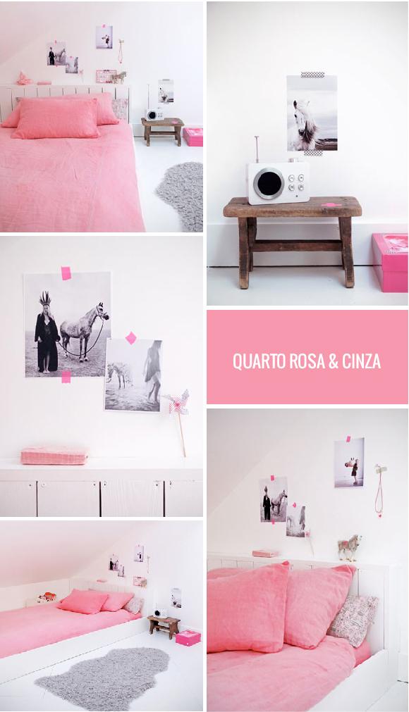 Quarto Rosa & Cinza